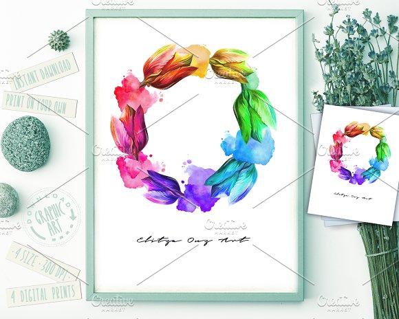 Prints Flowers Rainboll