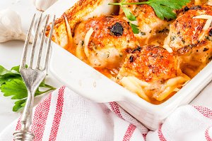 Prepared chicken meatballs