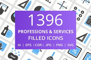1396 Professions Filled Icons