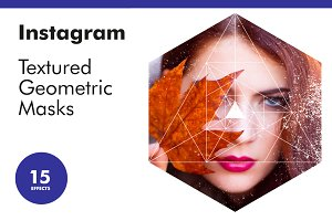 Instagram Textured Geometric Masks
