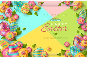 Easter flyer template