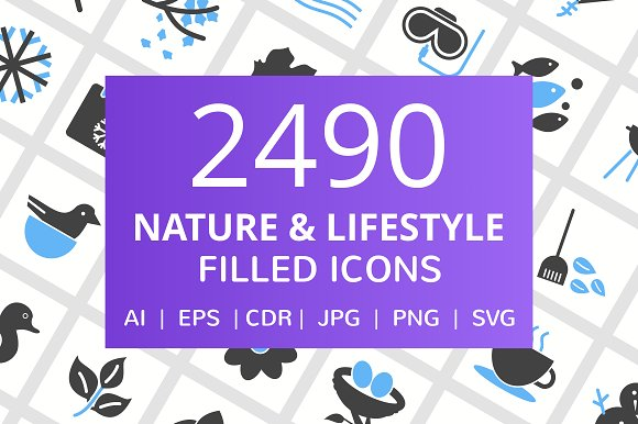 2490 Nature Lifestyle Filled Icons