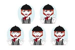 Mime avatar set