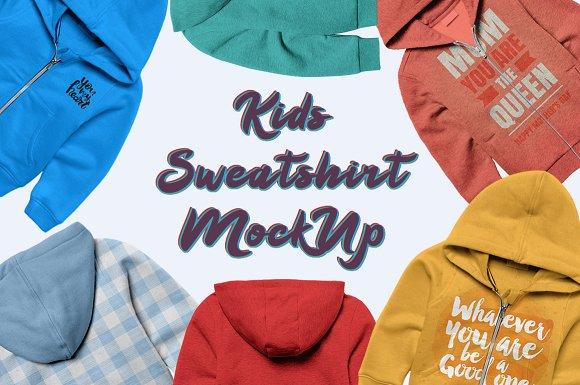 Kids Sweatshirt Mock-up