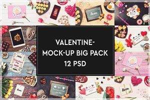 Valentine Mock-up Big Pack #1