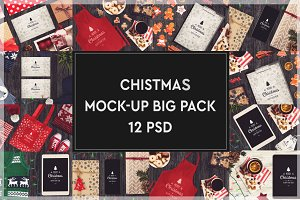Christmas Mock-up Big Pack #6