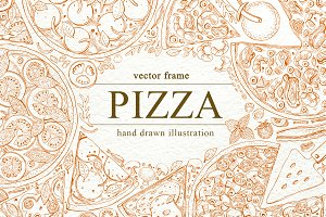Pizza Vector Frame