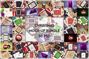50 PSD Christmas Mock-up Mega Bundle
