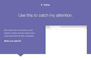 Tethys - A Web App Landing Page PSD