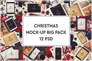 Christmas Mock-up Big Pack #3