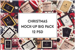 Christmas Mock-up Big Pack #4