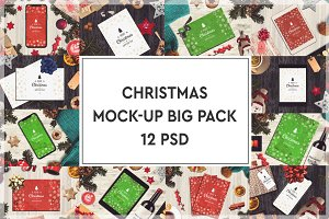 Christmas Mock-up Big Pack #2