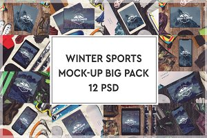 Winter Sports Mock-up Big Pack #1