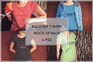 T-Shirt All-over Mock-up Pack #2