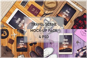 Travel Scene Mock-up Pack #2