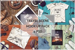 Travel Scene Mock-up Pack #3