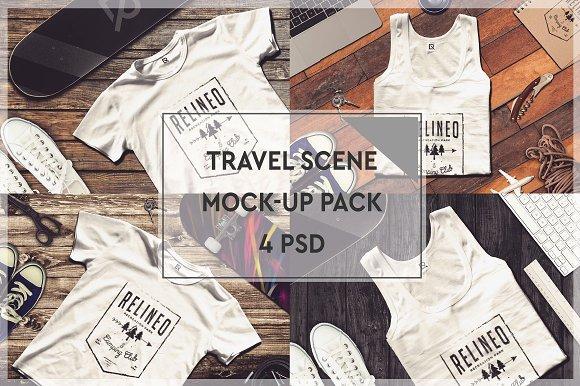 Download Travel Scene Mock-up Pack #4
