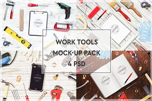 Work Tools Mock-up Pack #1
