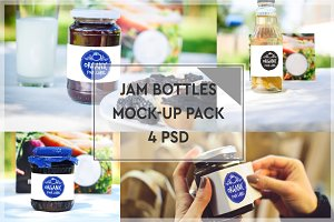 Jam Bottle Mock-up Pack #1