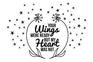 Your wings were ready svg, memorial