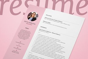 Double Page Resume/CV & Cover Letter