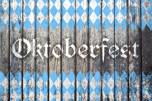 Oktoberfest background with blue and white rhombus pattern