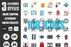 108 Icons×3 Styles Vol.4