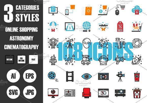 108 IconsЎБ3 Styles Vol.4