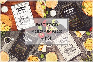 Fast Food Menu Mock-up Pack #2