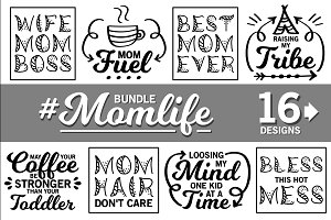 Mother Svg Bundle Momlife Svg Files Illustrations
