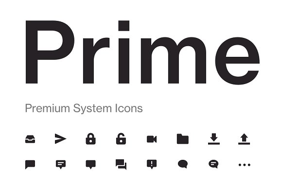 Prime 200 User Interface Icons