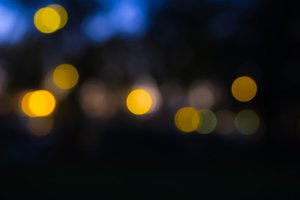 Defocused Night lights in the city.