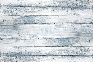 Old white wooden board background, empty copy space