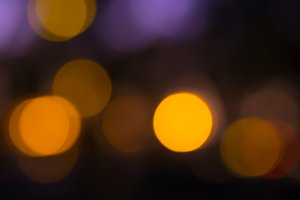 Orange violet bokeh abstract light