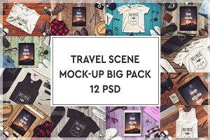 Travel Scene Mock-up Big Pack