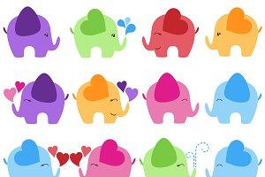 Elephants Vectors and Clipart