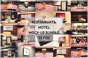 BUNDLE-25 Restaurant & Motel Mock-up