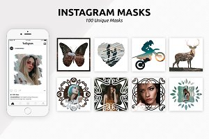 100 Instagram Masks PSD Templates