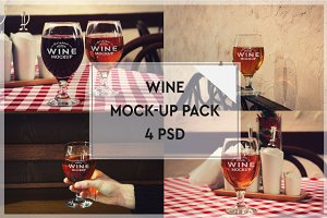 Wine Mock-up Pack#4