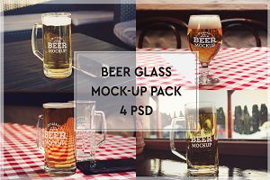 Beer Glass Mock-up Pack#10