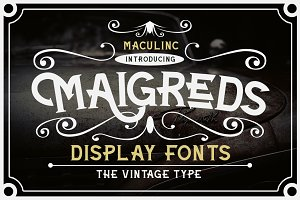 Maigreds Display Font