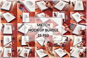BUNDLE - 25 Sketch Mock-up