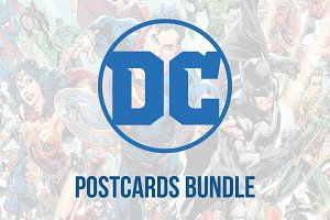 DC comics postcards Bundle