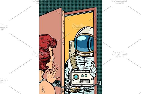 Astronaut Came To Visit A Woman The Door Was Opened