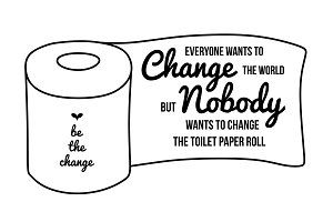 Be the change svg, bathroom svg file
