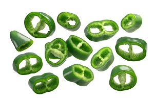 Green Peppers slices