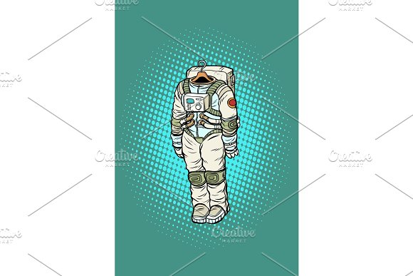 Spacesuit Astronaut Hanging On A Hanger