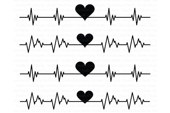 Heartbeat SVG Cardio Heart SVG