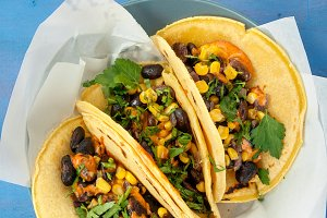 vegetarian corn tortillas