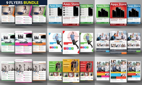 9 Business Flyers Bundle